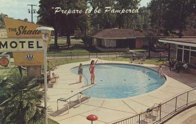 Shades motel pool